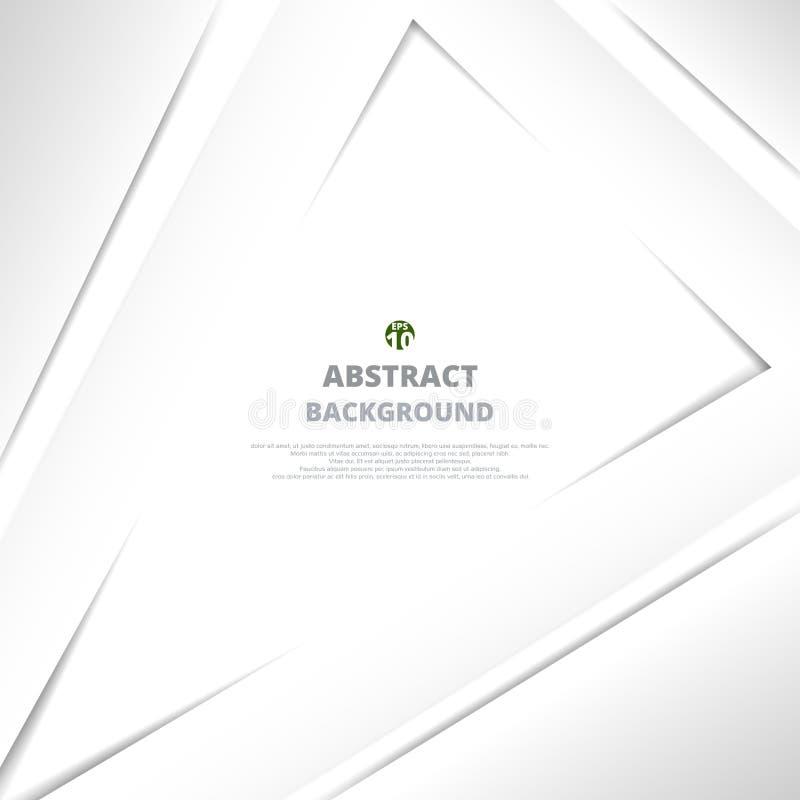 Abstrakt trójbok szarość papieru rżnięty tło ilustracja wektor