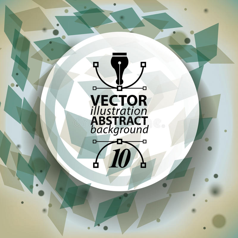 Abstrakt tredimensionell bakgrund med geometriska samkopieringsformer vektor illustrationer