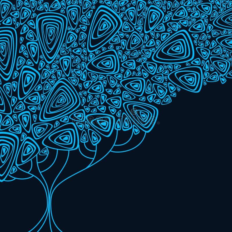 Abstrakt tree royaltyfri illustrationer