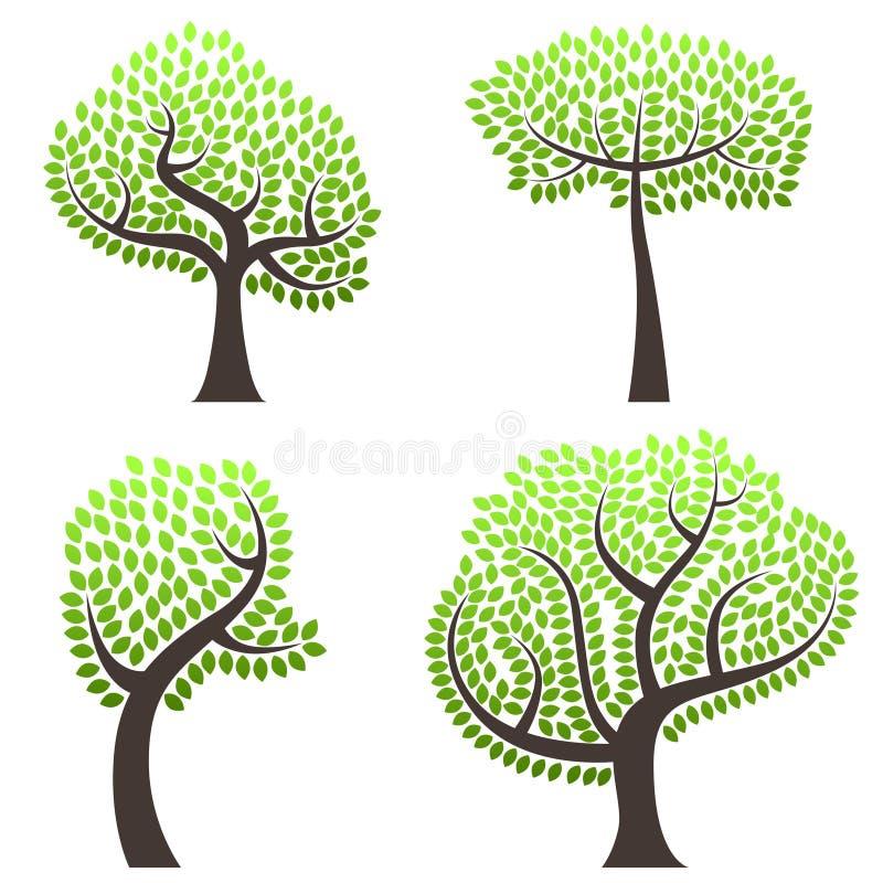 abstrakt treesvektor vektor illustrationer