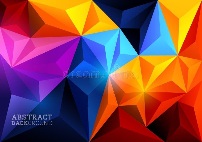 Abstrakt triangelbakgrund vektor illustrationer