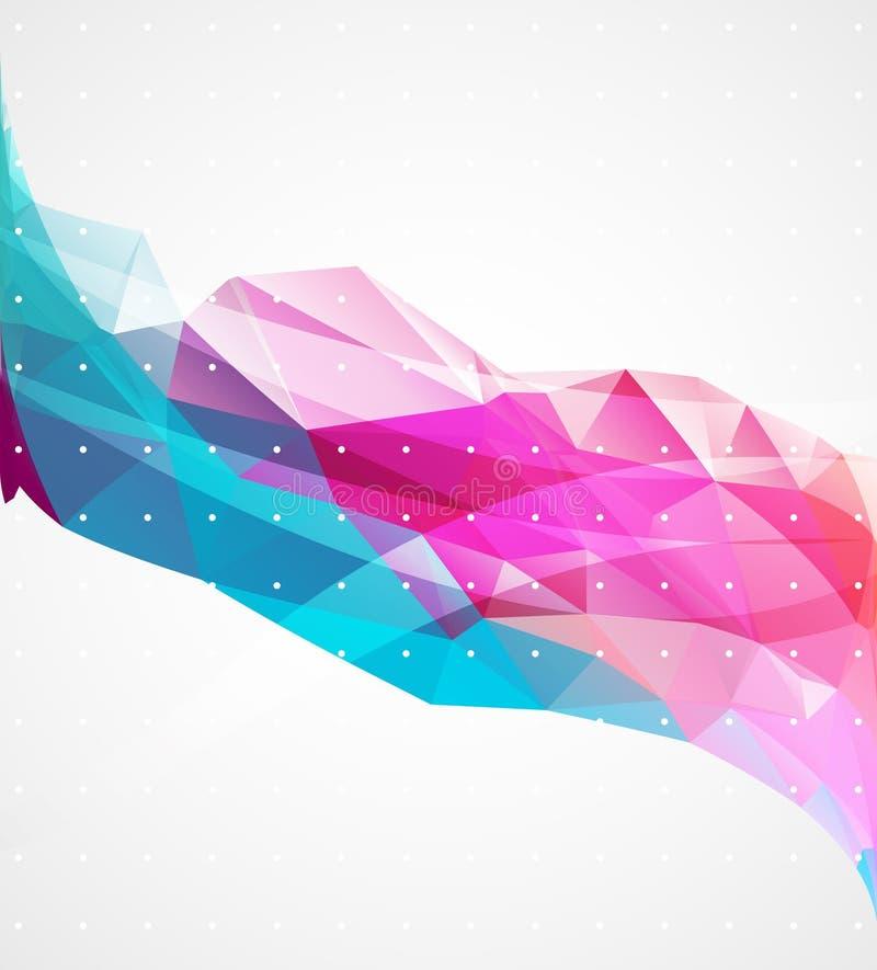 Abstrakt triangelbakgrund för affär royaltyfri illustrationer