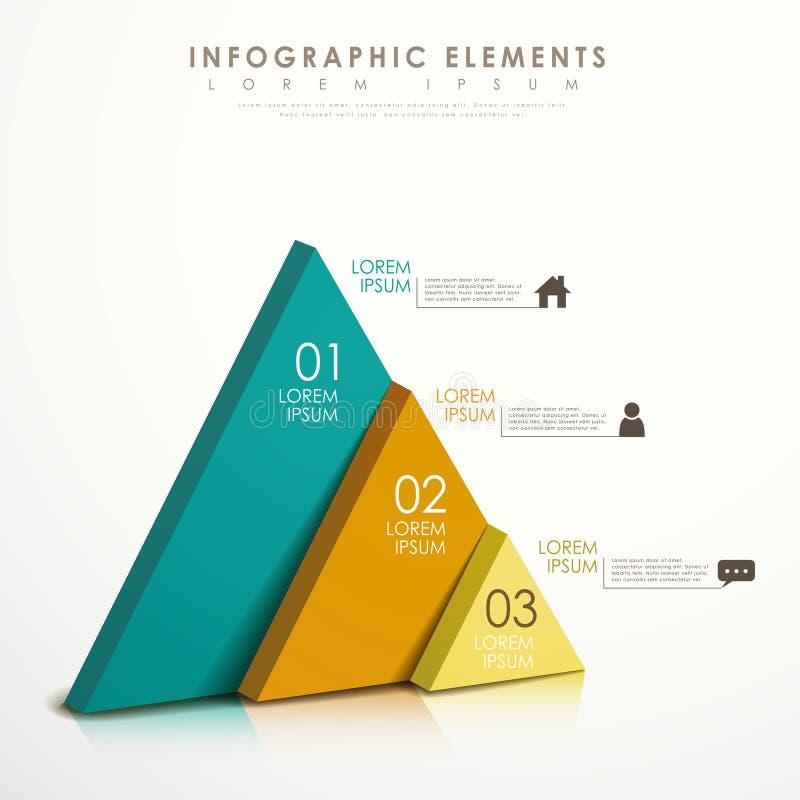 Abstrakt triangelinfographics stock illustrationer