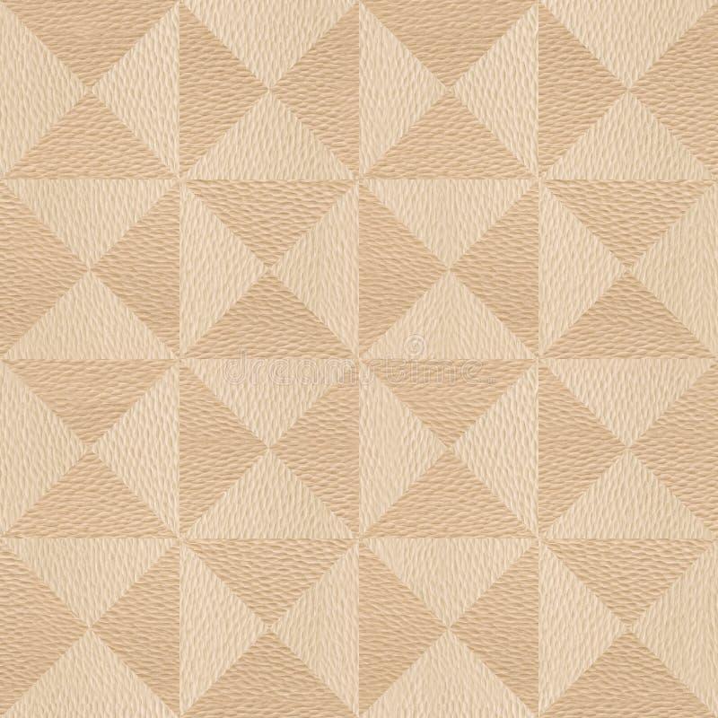 Abstrakt triangelmodell - sömlös bakgrund - trä för vit ek vektor illustrationer