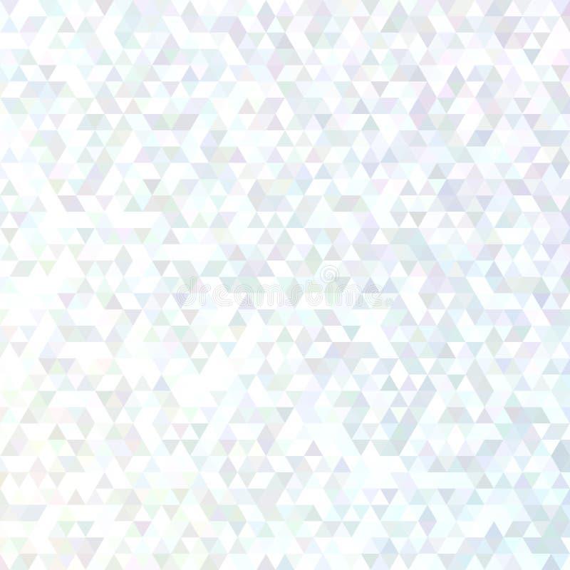 Abstrakt triangelmodellbakgrund - modern grafisk design för vektormosaik från vanliga trianglar vektor illustrationer