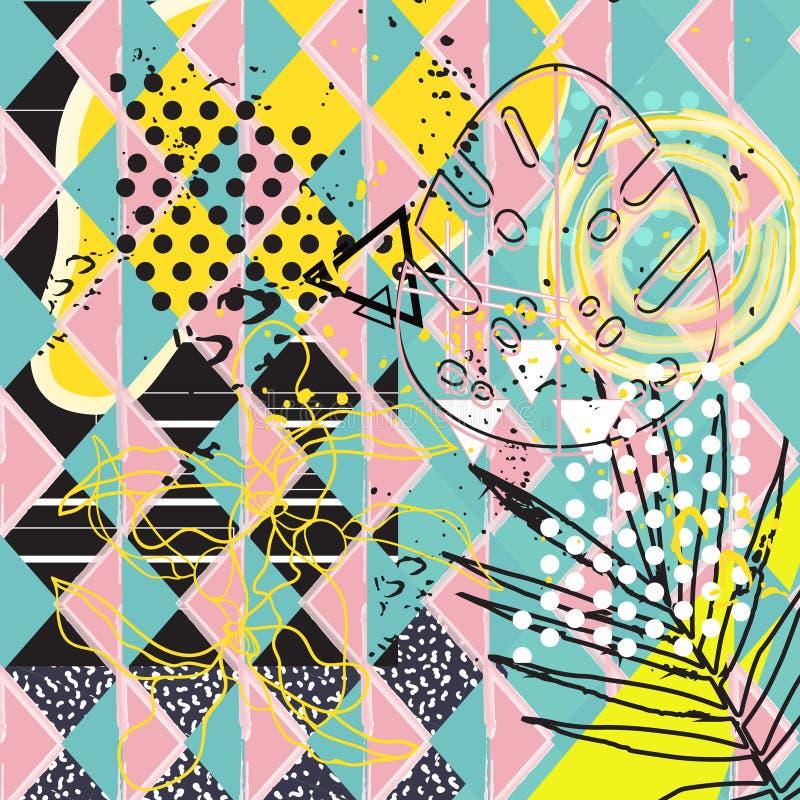 Abstrakt tropisk bakgrund för universal royaltyfri illustrationer