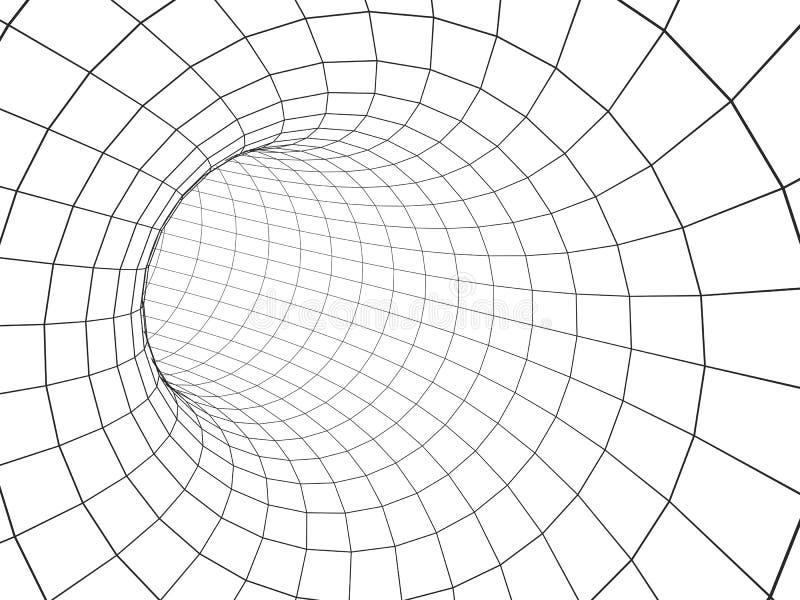 Abstrakt tunnel 3d från ett raster royaltyfri illustrationer