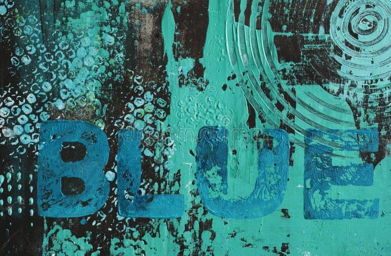 Abstrakt turkosbakgrund royaltyfri illustrationer