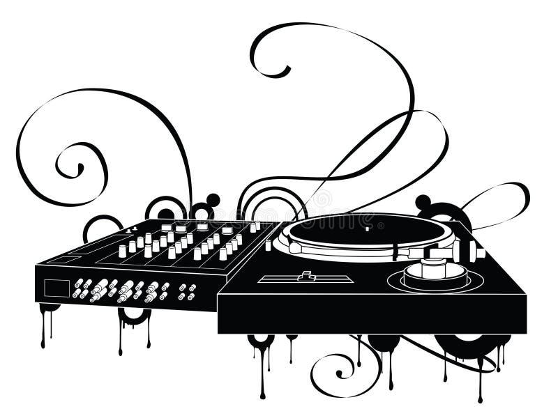 abstrakt turntable royaltyfri illustrationer