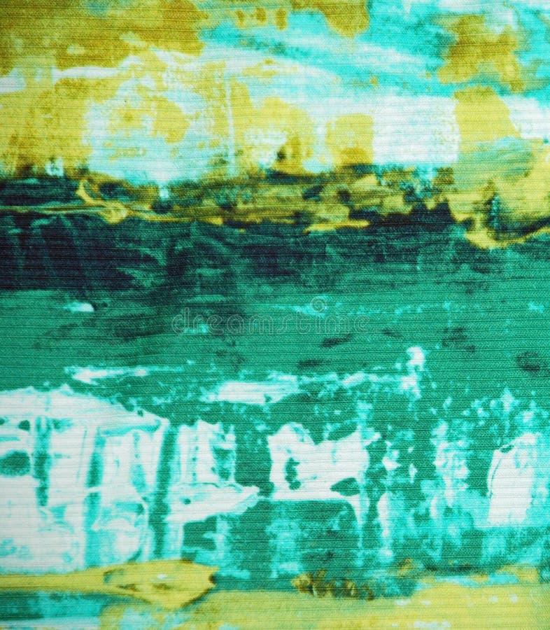 Abstrakt tygtextur för gräsplan och för guling royaltyfri foto