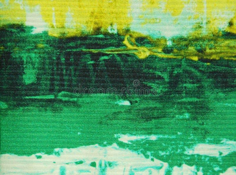 Abstrakt tygtextur för gräsplan och för guling arkivfoto