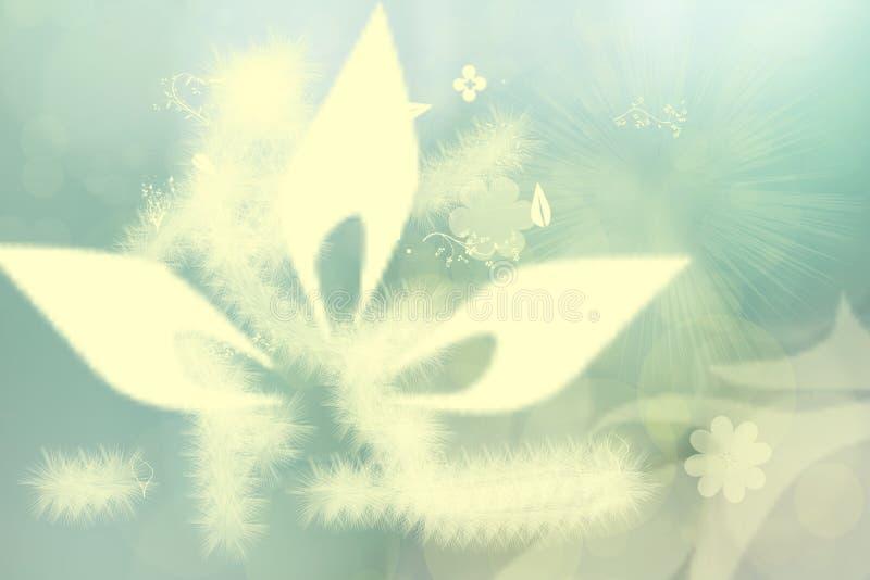 Abstrakt undervattens- värld Mystisk och magisk undervattens- flora med olika abstrakta blommor Ljus gul grön textur stock illustrationer