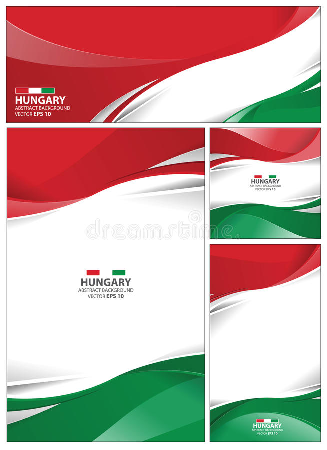 Abstrakt Ungernflaggabakgrund vektor illustrationer
