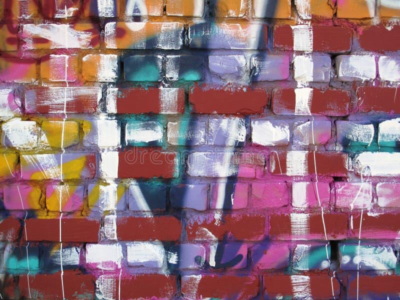 Abstrakt väggmålning royaltyfria foton