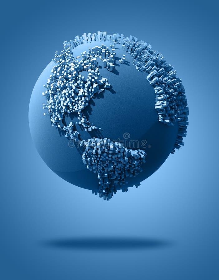 abstrakt värld vektor illustrationer
