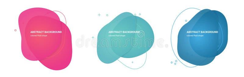 Abstrakt vätska formar mångfärgade lutningbakgrunder för affärskort vektor illustrationer