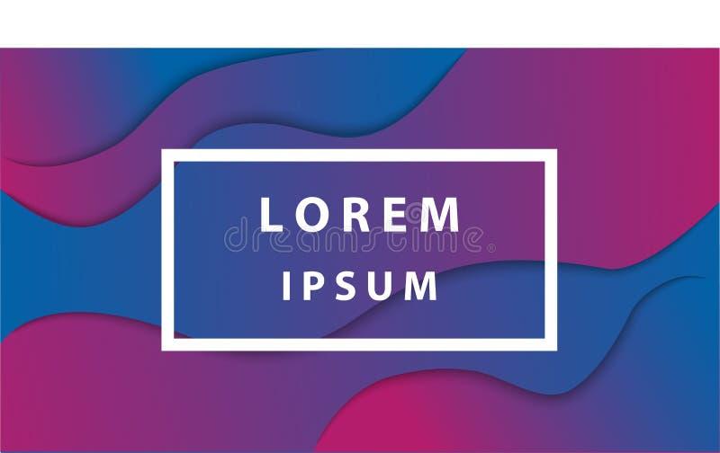 Abstrakt vätskefärgbakgrundsdesign Vätskelutningen formar design med utrymmemallen för design stock illustrationer