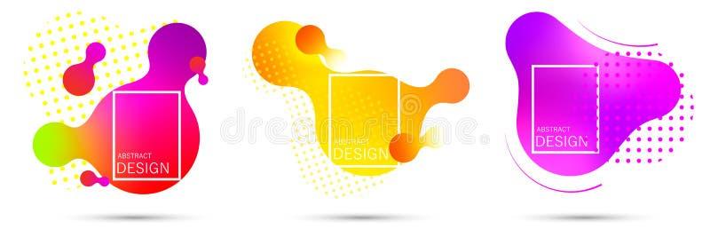 Abstrakt vätskeformlutning vektor illustrationer