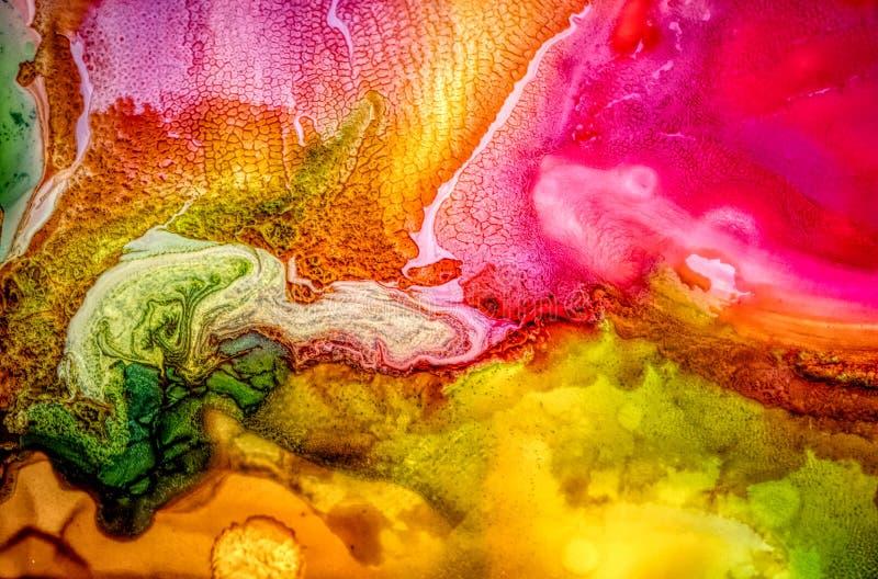 Abstrakt vätskemålning med textur arkivbilder