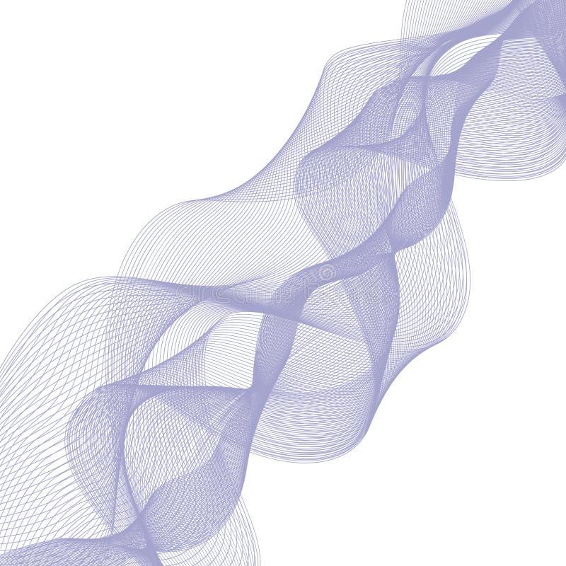 Abstrakt vågbeståndsdel för design Stiliserad linje konstbakgrund också vektor för coreldrawillustration Den krökta krabba linjen stock illustrationer