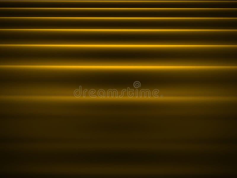 Abstrakt vågtorkduk på guling vektor illustrationer