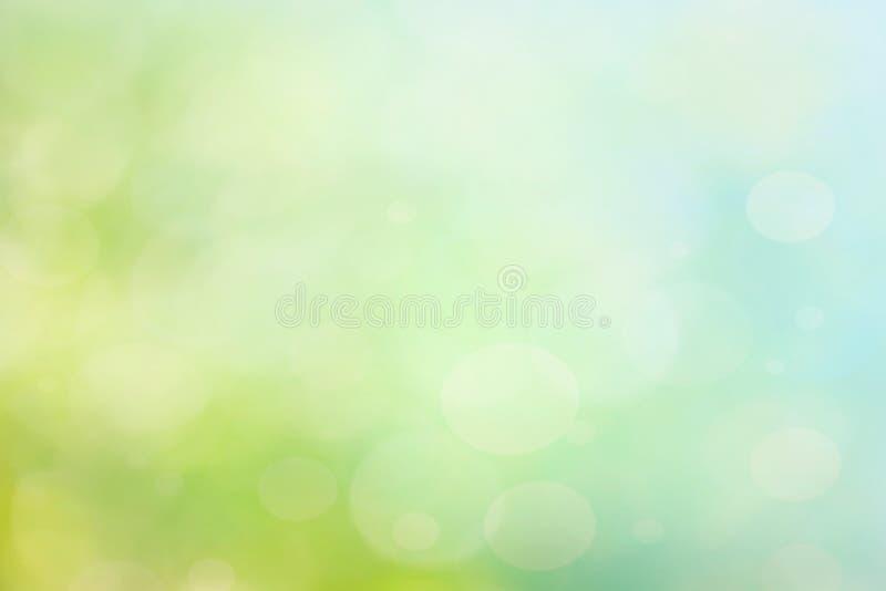 Abstrakt vår eller sommarbokehbakgrund vektor illustrationer