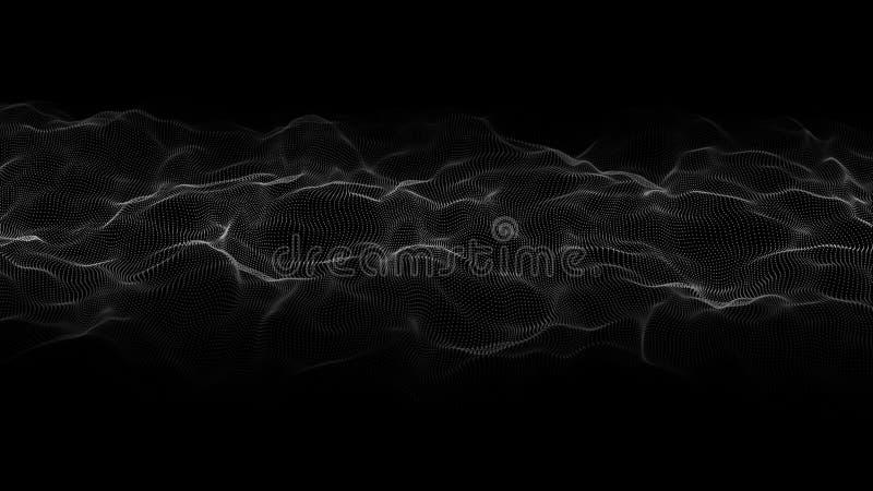 Abstrakt v?g av m?nga punkter futuristic bakgrund ocks? vektor f?r coreldrawillustration vektor illustrationer