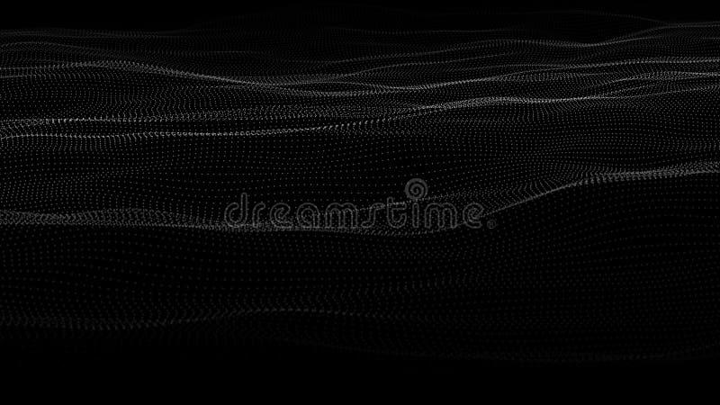 Abstrakt v?g av m?nga punkter futuristic bakgrund ocks? vektor f?r coreldrawillustration stock illustrationer
