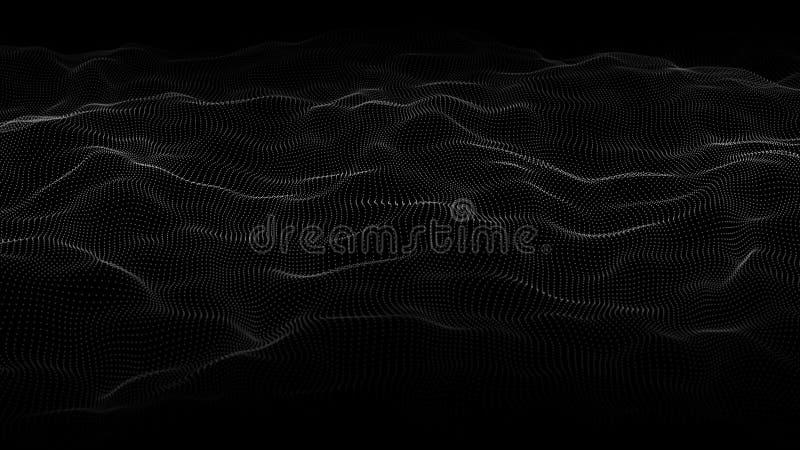 Abstrakt v?g av m?nga punkter futuristic bakgrund ocks? vektor f?r coreldrawillustration royaltyfri illustrationer