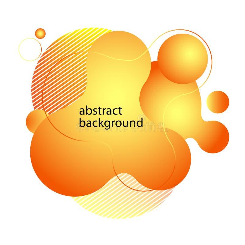 Abstrakt v?tskeform Fluid design Den isolerade lutningen vinkar med geometriska linjer, prickar ocks? vektor f?r coreldrawillustr vektor illustrationer