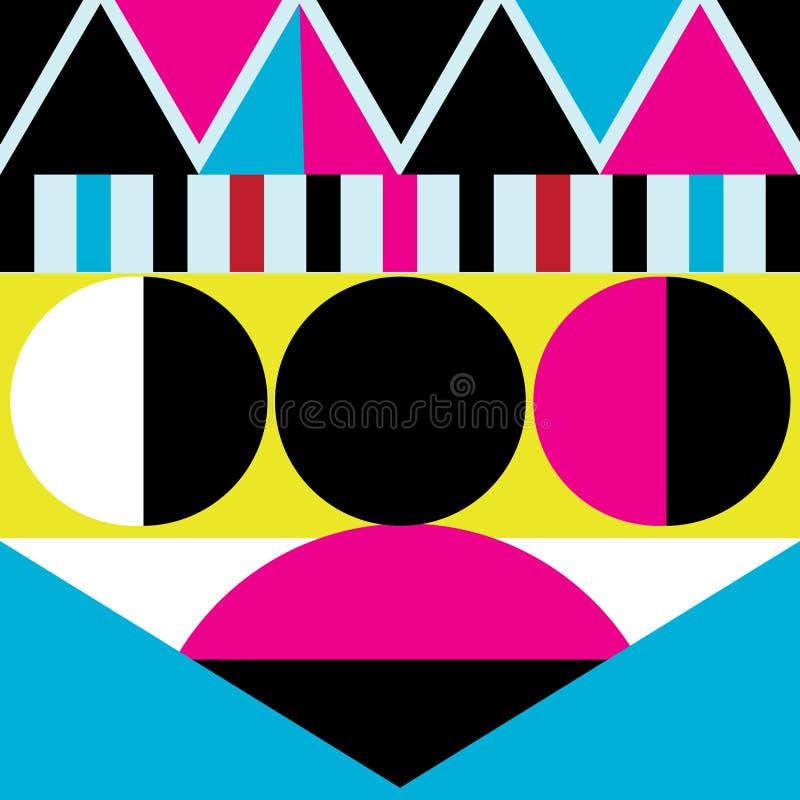 Abstrakt vacker vektorbakgrund för geometriska olika objekt royaltyfri illustrationer