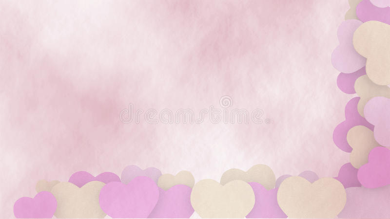 Abstrakt valentinbakgrund med hjärtaramen royaltyfri illustrationer