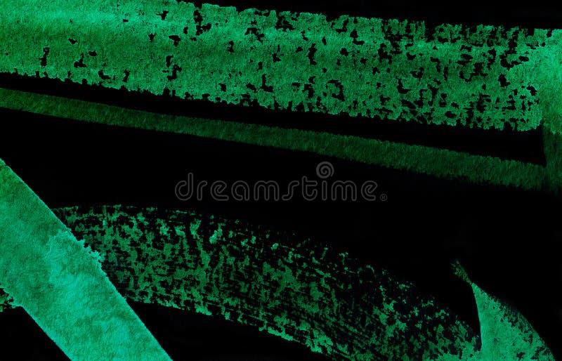 abstrakt vattenfärg för bakgrundsblackgreen royaltyfri illustrationer