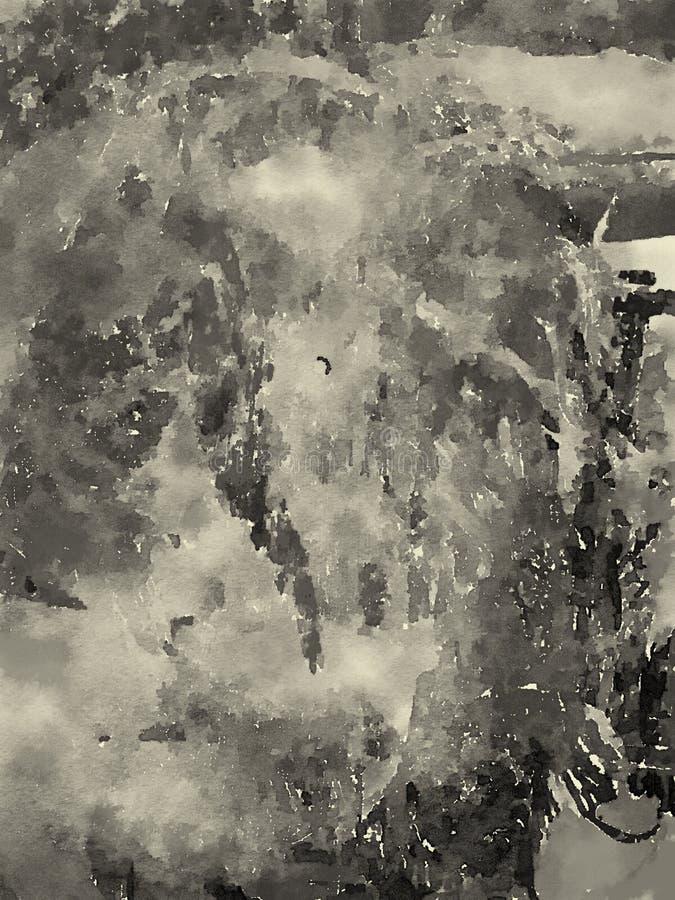 Abstrakt vattenfärg på papper royaltyfri illustrationer