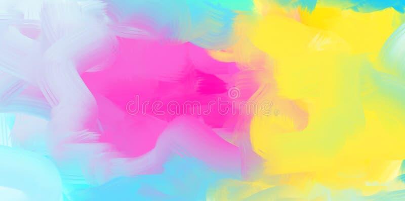 Abstrakt vattenfärgbakgrund, färgrik textur stock illustrationer