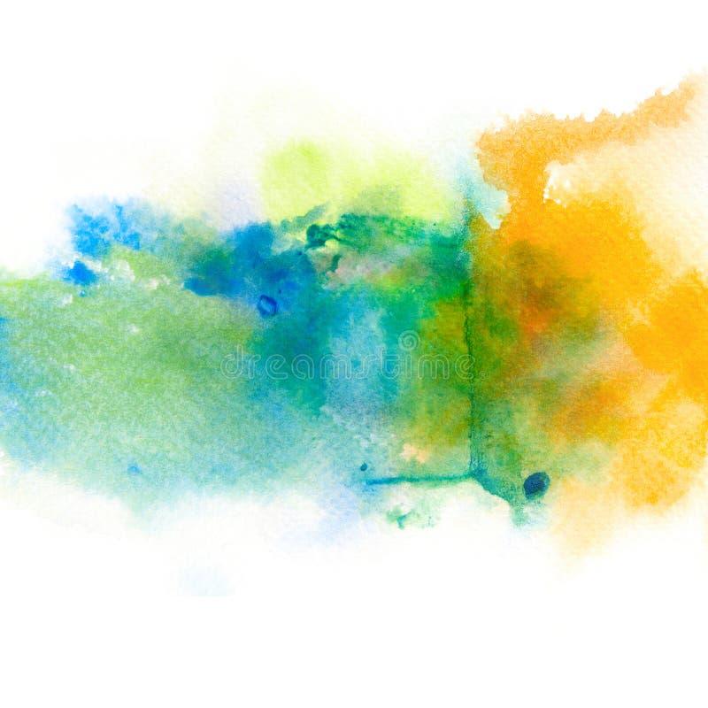 Abstrakt vattenfärgfärgstänkbakgrund stock illustrationer