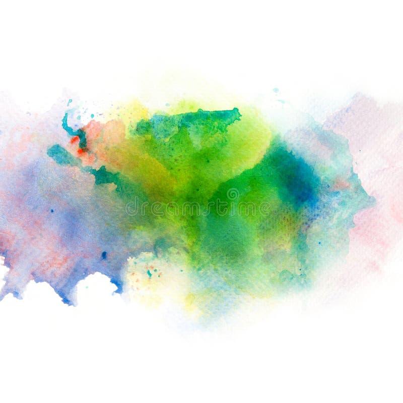 Abstrakt vattenfärgfärgstänkbakgrund vektor illustrationer