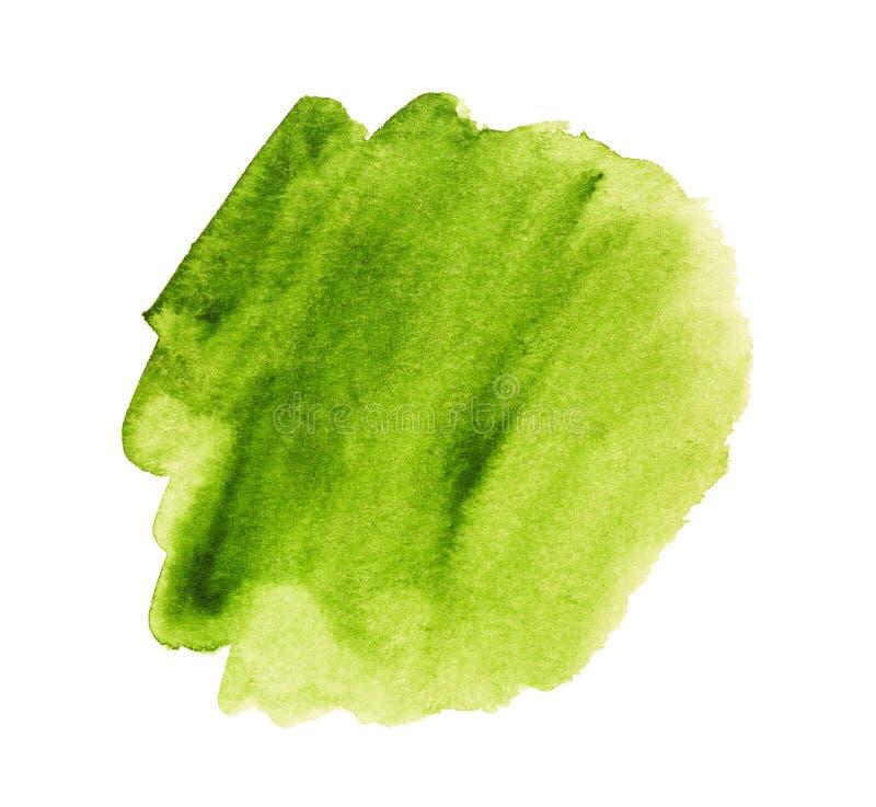 Abstrakt vattenfärggräsplanfläck som isoleras på vit bakgrund vektor illustrationer