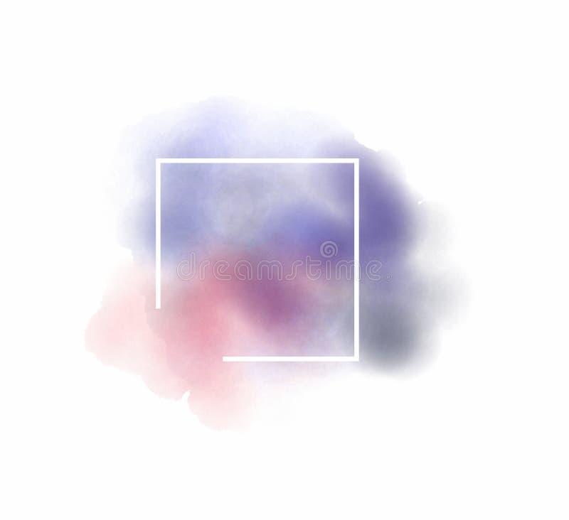 Abstrakt vattenfärglogomall på isolerad vit bakgrund stock illustrationer
