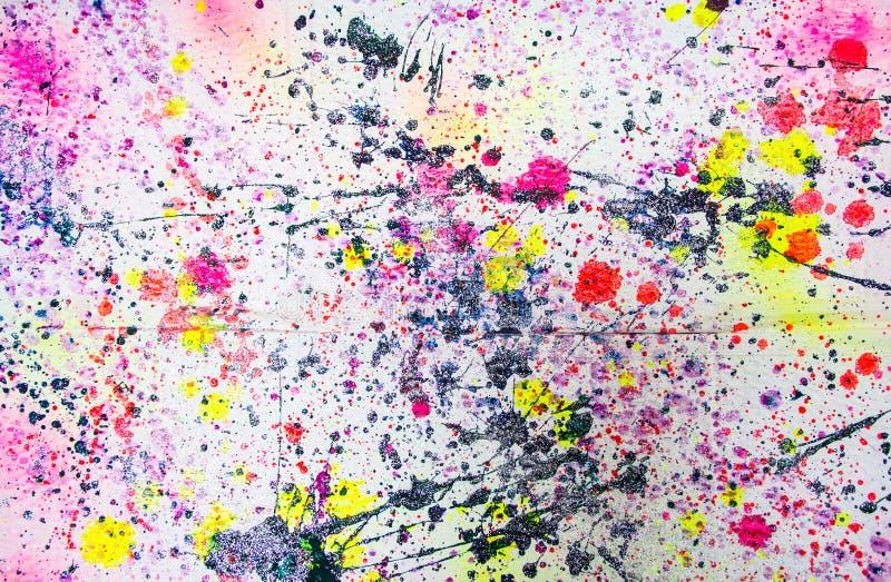 Abstrakt vattenfärgmålarfärgfärgstänk vektor illustrationer