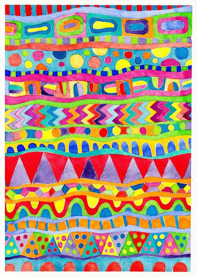 Abstrakt vattenfärgmålningbakgrund stock illustrationer