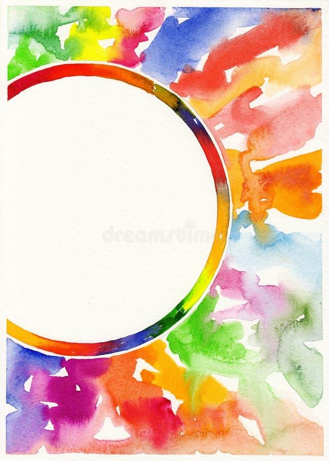 Abstrakt vattenfärgmålningbakgrund vektor illustrationer