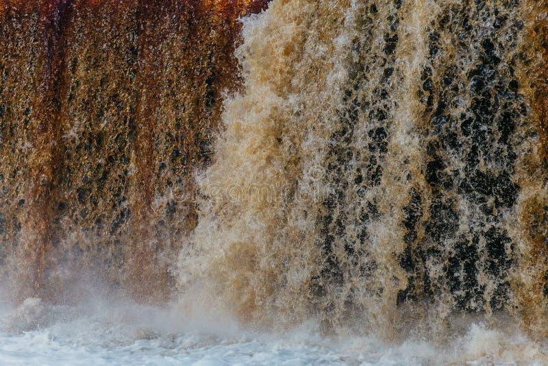 Abstrakt vattenfallslut upp arkivfoto