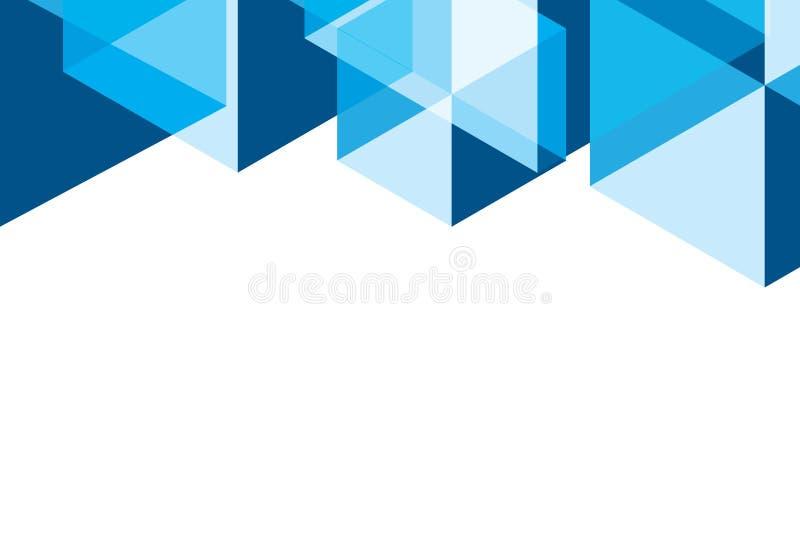 Abstrakt vektor av geometrisk bakgrund för blå sexhörning med mellanrumet royaltyfri illustrationer