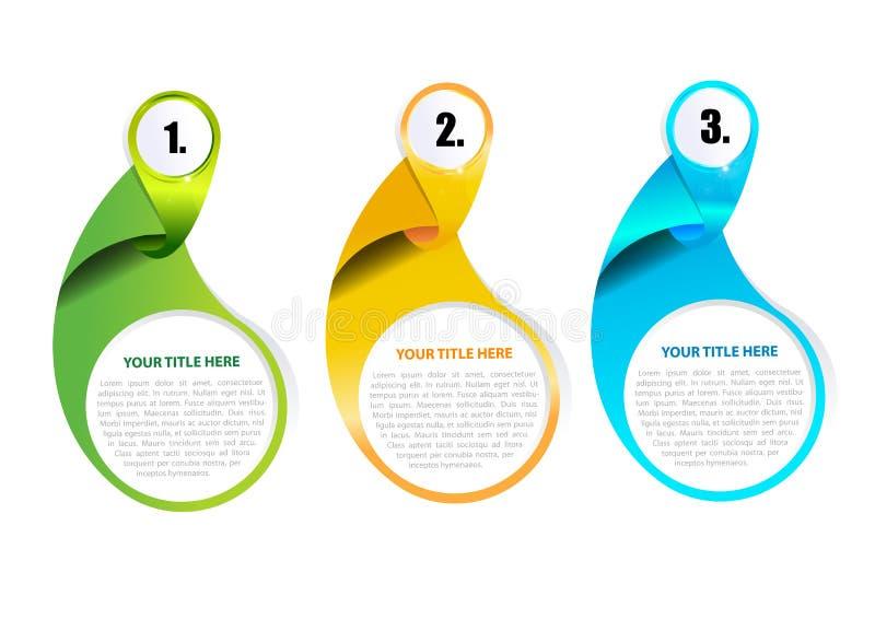 abstrakt vektor för bakgrundsböna tre vektor illustrationer