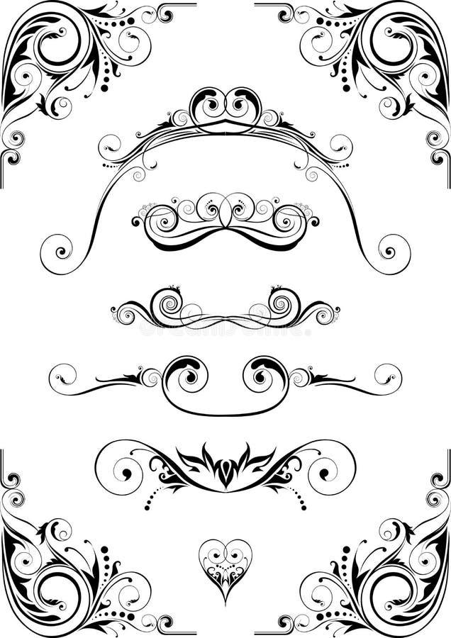 abstrakt vektor för designelementillustration royaltyfri illustrationer