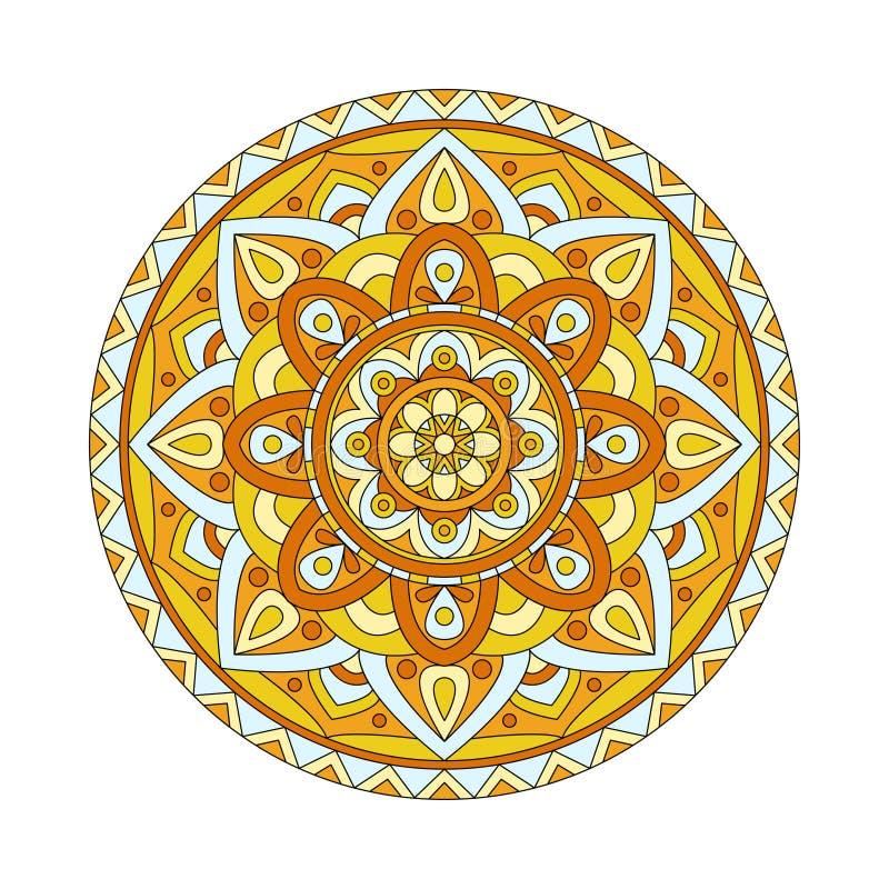 abstrakt vektor för designelementillustration Runda mandalas i vektor Grafisk mall för din design Dekorativ retro prydnad stock illustrationer