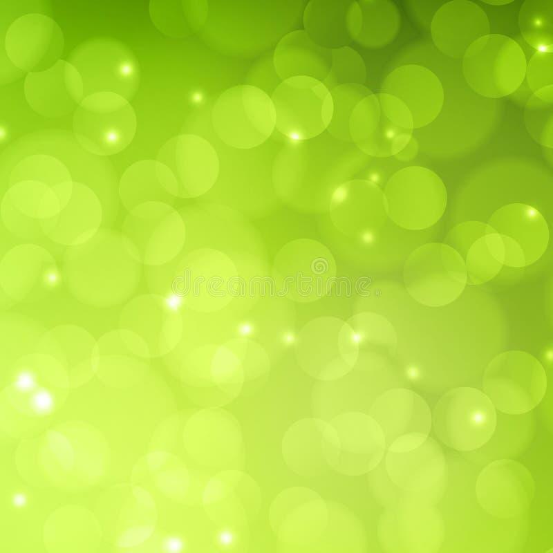 abstrakt vektor för lampa för illustration för bakgrundsbokehgreen vektor royaltyfri illustrationer