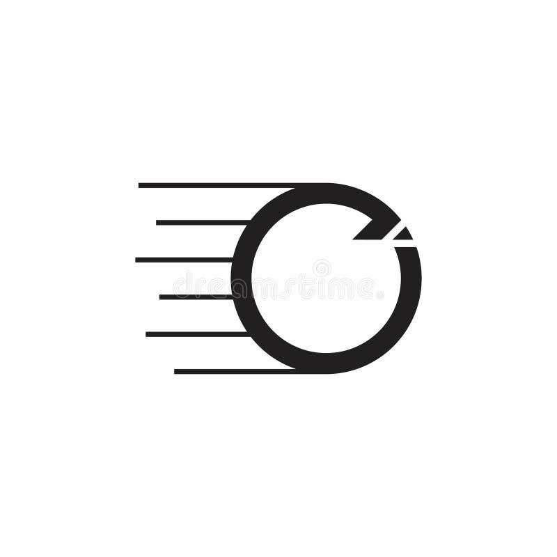 Abstrakt vektor f?r logo f?r snabb r?relse f?r cirkelpilar stock illustrationer