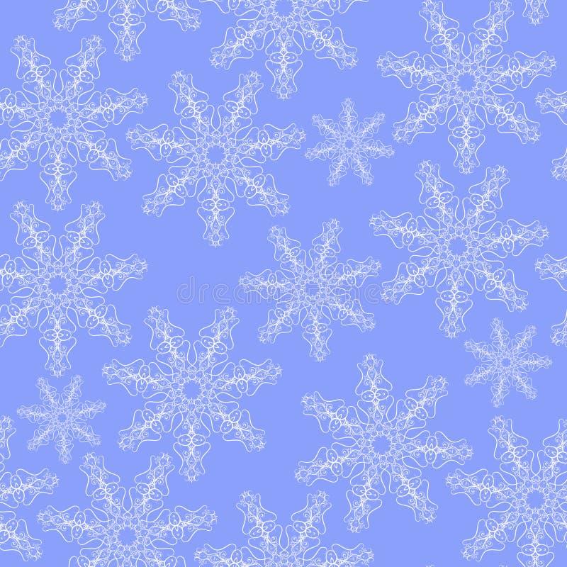 abstrakt vektor för snowflakes för bakgrundsjulillustration vektor illustrationer